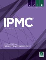 2018 IPMC, International Property Maintenance Code