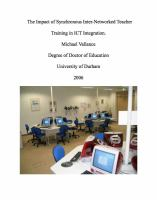 The Impact of Synchronous Inter-networked Teacher Training in Ict Integration