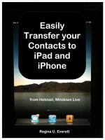 Easily Transfer your Contacts to Ipad and Iphone From Hotmail, Windows Live