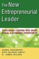 The New Entrepreneurial Leader