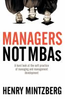Managers, Not MBAs
