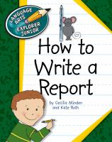 How to Write A Report