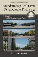 Foundations of Real Estate Development Financing