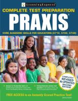 Praxis® Core Academic Skills for Educators (5712, 5722, 5732)