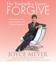 Do Yourself A Favor-- Forgive