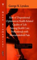 Role of Dispositional Optimism in Health Related Quality of Life Among Health Care Professionals With Musculoskeletal Pain
