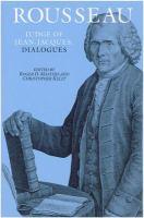 Rousseau, Judge of Jean-Jacques, Dialogues