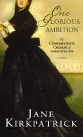 One Glorious Ambition (large Print Novel)