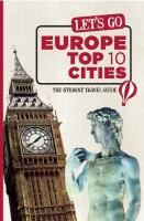 Let's Go: Europe Top 10 Cities, 2011