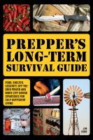 Prepper's Long-term Survival Guide