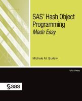SAS Hash Objects