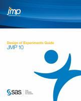 JMP 10 Design of Experiments Guide