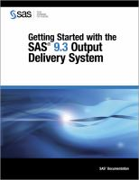 Getting Started With the SAS 9.3 Output Delivery System