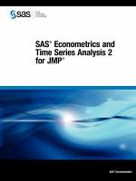 SAS Econometrics and Time Series Analysis 2 for JMP
