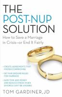 The Post-nup Solution