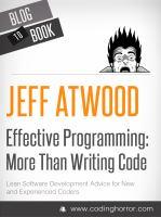 Effective Programming