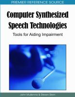Computer Synthesized Speech Technologies
