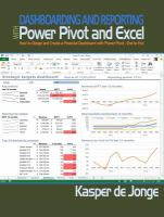 Dashboarding & Reporting With PowerPivot & Excel