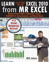 Learn Excel 2007-2010 From Mr Excel