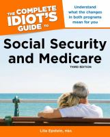 The Complete Idiot's Guide to Social Security and Medicare
