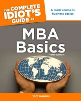 The Complete Idiot's Guide to MBA Basics