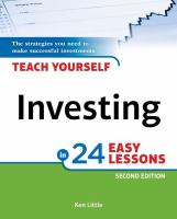 Teach Yourself Investing in 24 Easy Lessons