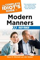 The Complete Idiot's Guide to Modern Manners