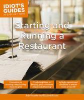 Starting & Running A Restaurant