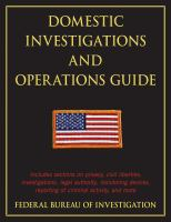 Domestic Investigation and Operations Guide