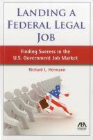 Landing A Federal Legal Job