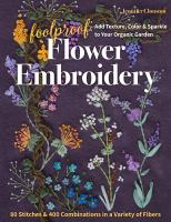 FOOLPROOF FLOWER EMBROIDERY--ON ORDER FOR HERRICK!