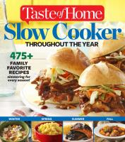 Slow Cooker Throughout the Year
