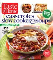Casseroles, Slow Cooker & Soups