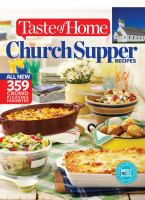 Taste of Home All New Church Supper Recipes