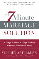The 7 Minute Marriage Solution