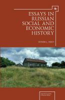Essays in Russian Social and Economic History