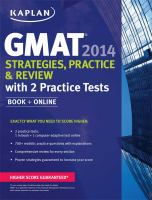 GMAT 2014 Strategies, Practices and Review