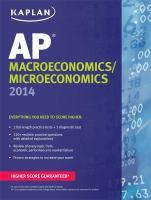 AP Macroeconomics/microeconomics 2014