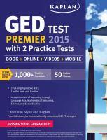 GED Test Premier 2015