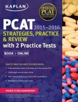 PCAT®, 2015-2016