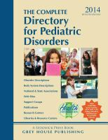 The Complete Directory for Pediatric Disorders