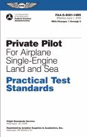 Private Pilot for Airplane Single-engine Land and Sea Practical Test Standards