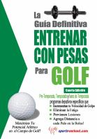 La guía definitiva entrenar con pesas para golf