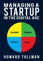 Managing A Startup in the Digital Age