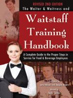The Waiter and Waitress and Waitstaff Training Handbook