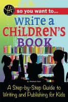 So You Want To... Write A Children's Book