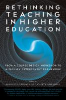 Rethinking Teaching in Higher Education