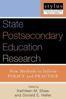 State Postsecondary Education Research