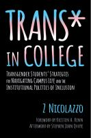 Trans* in College
