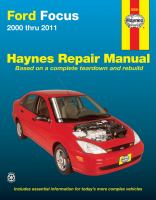 Ford Focus 2000-11 Repair Manual